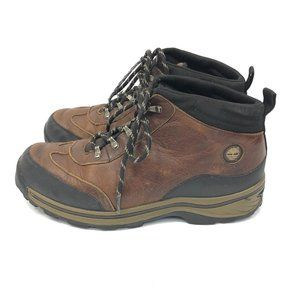 Timberland Back Road Boys Brown Leather Hiking Tra